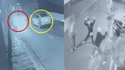 Sau va chạm giao thông, nam thanh niên cầm xẻng đánh vợ tài xế