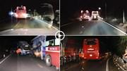Cố vượt ẩu trên đèo Bảo Lộc, xe khách gây tai nạn liên hoàn
