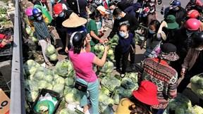 Hàng chục tấn nông sản từ Hải Dương, xe cứ chở tới là có người mua hết