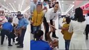 Bị bắt khi xui bé gái trộm đồ, người phụ nữ liên tục đạp bảo vệ