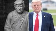 """Ý nghĩa bức tượng ông Trump mặc áo cà sa, ngồi thiên gây """"sốt"""" ở TQ"""