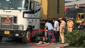 Người đàn ông bị container cán chết tại chỗ, thi thể kẹt dưới gầm xe