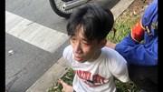 Bắt thanh niên 'ngáo đá' kề dao uy hiếp tài xế xe buýt giữa ban ngày