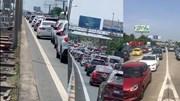 Ùn tắc hơn 2km không xả trạm, VECE bị lập biên bản xử phạt