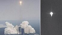 Video mảnh vỡ tên lửa Trường Chinh 5B rơi xuống Trái Đất