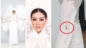 Hoa hậu Khánh Vân bị thương khi mặc trang phục dân tộc nặng hơn 30 kg