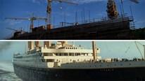 """Cận cảnh tàu Titanic Trung Quốc to như phiên bản thật sắp """"hạ thủy"""""""