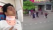 Nam sinh bị 7 thanh niên đánh hội đồng, nằm bất động giữa đường