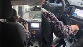 Cụ bà 70 tuổi tự tin lái xe bán tải số sàn gây sốt
