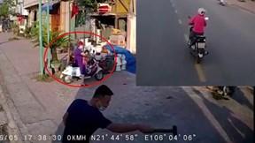 Tài xế xe tải chèn ép nữ 'ninja' khiến 2 bà cháu đi xe đạp điện vạ lây