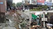 Hiện trường xe đầu kéo cày nát 50m vỉa hè, tông hàng chục xe máy ở Hà Giang