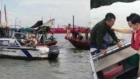 Cứu sống ngư dân đi bán cá bị đuối nước trôi trên biển