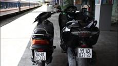 Bắt giữ 2 xe mô tô không rõ nguồn gốc trị giá nửa tỷ đồng trên tàu hỏa