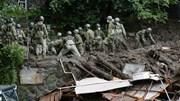 Lở đất xé toạc đường phố, Nhật huy động 1.500 nhân viên giải cứu