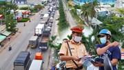 Long An ngày đầu giãn cách: Dân còn bối rối, xe tải nối dài kẹt hơn 5 km