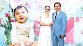 Siêu mẫu Đức Tiến vui mừng đón sinh nhật 1 tuổi của con gái đầu lòng