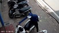 Thanh niên dùng chân bẻ khóa xe SH nhanh như chớp trên phố Hà Nội