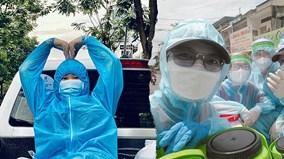 'Bóng hồng khử khuẩn' bất chấp nguy hiểm, hừng hực giữa tâm dịch