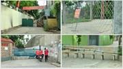 Hà Nội: Người dân dùng ghế đá, lưới thép rào đường chặn lối đi lại