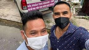 Quyền Linh, Kyo York hăng hái vác gạo giúp nghệ sĩ khó khăn mùa dịch