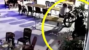 Thanh niên bị truy sát, đánh đập dã man trong quán nhậu