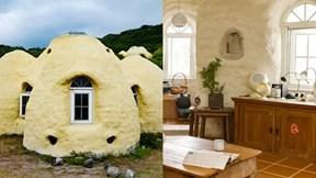 Nhà bằng bùn chống bão, chống động đất xinh như trong cổ tích