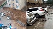 Bức tường tòa chung cư bất ngờ đổ sập, 'đè bẹp' hàng loạt ô tô