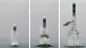 Triều Tiên phóng tên lửa đạn đạo từ tàu ngầm, thách thức Nhật, Hàn