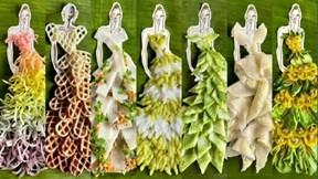 Độc đáo 20 chiếc váy dạ hội làm từ các loại bánh đặc sản Nam Bộ